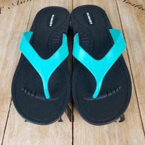 Okabashi  MARINA  blue thong flip flops